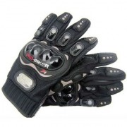 Probiker Leather Motorcycle riding Gloves (Black XL size)