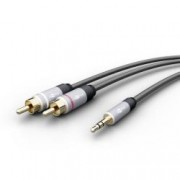 Goobay Cavo Adattatore MP3 Audio 3.5mm Maschio a 2xRCA Maschio 5m