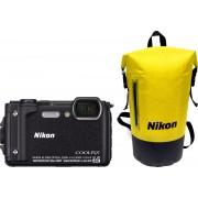 Nikon Coolpix W300 - Zwart + Waterbestendige rugtas