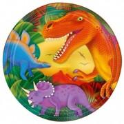Geen Dino themafeest bordjes 8 stuks van papier/karton