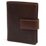 Lucleon Portefeuille Montreal compact en cuir marron foncé RFID