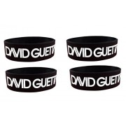 eshoppee David Guetta one Love Nothing but The Beat i Wanna go Crazy Wrist Bands for Men and Women Set of 4 pcs Friendship Day Gift/ Wrist Band Bracelet