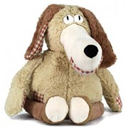 Dear Baby Gear Limited Edition Superior Plush Toy Collection, Smiling Normy Dog, 15 Inches, Tan and Plaid Patches