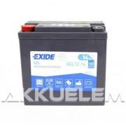 Exide GEL12-14 12V 14Ah 150A motorkerékpár akkumulátor BAL+