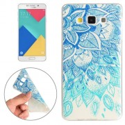 Samsung Galaxy A7 Case, / A700F Blue Leaves Pattern TPU Protective Case