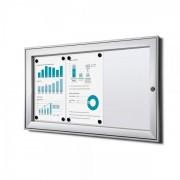 Jansen Display Interiérová vitrína Economy 3xA4, plechová záda, atest B1