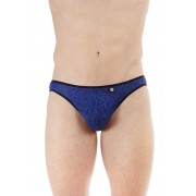 L'Homme Invisible Feuilles D'Amour Y String Thong Underwear Navy MY93-AMO-040