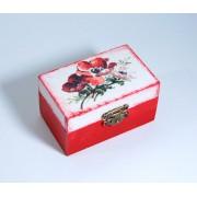 Cutiuta din lemn - maci - 7331