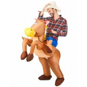 Disfarce de cavalo insuflável adulto