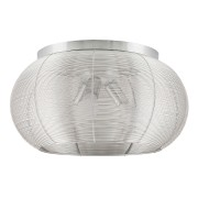 Plafoniera Meda structura din metal argintiu si abajur metalic argintiu 2886 Rabalux