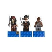 LEGO Pirates of the Caribbean Magnet Set: Jack Sparrow, Hector Barbossa and Gunner Zombie 853191