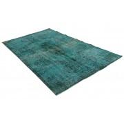 Rozenkelim blauw vloerkleed vintage 285cm x 175cm