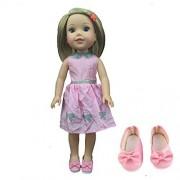 My fleta Princess Dress +1pair shoes for 14.5 Inch American Girl Dolls Wellie Wishers
