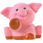 Fisher Price Little People Animal Sounds Farm Barn Zoo Castle Replacement Light Brown Pink Muddy Paws Pig No Splatter...