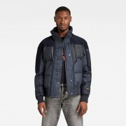 G-Star RAW Heren Denim Mix Quilted Puffer Jack Donkerblauw - S XS