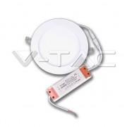 V-Tac Pannello LED da incasso rotondo 12W + Driver Mod. VT- 1207 RD 4857/4858/4859