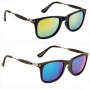 SRPM Clubmaster, Wayfarer Sunglasses(Yellow, Green)