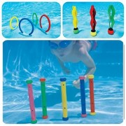Intex Underwater Pool Swimming Toy Diving Play Set - Set Includes, Underwater Play Rings, Underwater Play Sticks and Underwater Balls ? Combo Pack of Swimming Pool Fun Toys for Diving and Swimming
