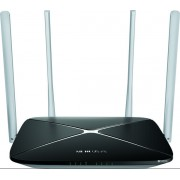 Router Wireless Mercusys AC12, Dual Band, 1200 Mbps, 4 Antene Externe (Negru)