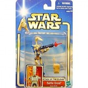 Star Wars Attack of the Clones Red Battle Droid Variant Arena Battle.