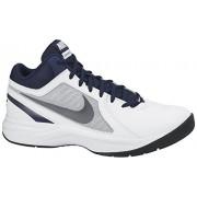 Nike Men's The Overplay Viii White, Metallic Grey, Navy and Black Basketball Shoes -10 UK/India (45 EU)(11 US)