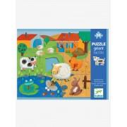 Puzzle Tactilo Quinta, com 20 peças, da DJECO bege medio liso com motivo