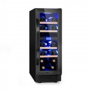 Klarstein Vinovilla Onyx17, винен охладител с двойна зона, 53 л, 17 бутилки, трицветна стъклена врата (HEA8-Vinov-O17)