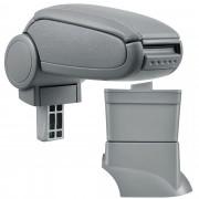 [pro.tec]® Lakťová opierka pre Fiat 500 - lakťová opierka - s odkladacím priestorom - koženka - sivá