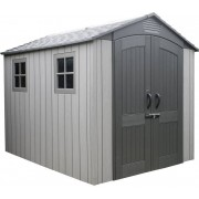 Lifetime Kunststoff Gerätehaus Luna dunkelgrau, 204x285x227 cm