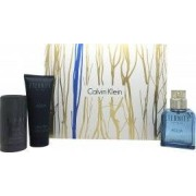 Calvin Klein Eternity Aqua Gift Set 100ml EDT + 100ml Aftershave Balm + 75g Deodorant Stick