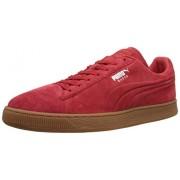 PUMA Suede Emboss Sneaker, High Risk Red/Gum, 9 D US