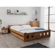 Naomi magasított ágy 140x200 cm, tölgyfa Matrac: Economy 10 cm matraccal, Ágyrácsok: Ágyács nélkül