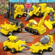 8 En 1 Kazi Ciudad Niños DIY Bloques De Construcción Ingeniería De Iluminación Montadas Educación Intelligence Toy