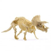 Goolsky Ultimate Dinosaur Science Kit-Dig up Dinosaur and Assemble a Triceratops Skeleton - Small