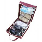 KGNannexe Shoe Tote Organizer To Hold 6 Pair Of Shoes - Portable Travel Pouch for carrying(Red)