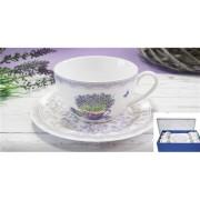V.B.15129 Madeira porcelán csésze+alj 240ml,6 személyes dobozban