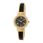 AK Anne Klein Womens Glossy Black Bangle Watch NO COLOR