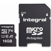 Card de memorie Integral 100V10 16GB Micro SDHC Clasa 10 UHS-I + Adaptor SD