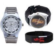 Jack Klein Combo Of Multicolor Analog And Digital Round Wrist Watches