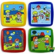 Set de 4 puzzle Activitati de sezon Miniland