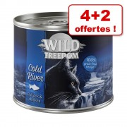 Wild Freedom Adult 4 + 2 offertes ! : 200 / 400 g pour chat - Wide Country veau, poulet 6 x 200 g
