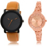 The Shopoholic Black Rose Gold Combo Fashionable Fancy Collection Black And Rose Gold Dial Analog Watch For Boys And Girls Men Stylish Watch