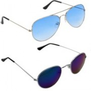 Royalmede Aviator, Round Sunglasses(Blue, Multicolor)