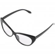 ER Las Mujeres Ojo De Gato Diseño Retro Vintage Gafas Gafas De Sol Gafas -Negro+blanco