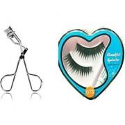 COMBO OF 2 Professional Eyelash Curler + Eyelashes eyelash with eye curler Trendster