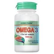 Omega 3 Ulei de Somon 1000mg Cosmo Pharm 30cps