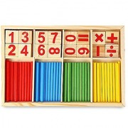 Robolife Number Cards and Counting Rods Montessori Math Intelligence Stick Preschool Educational Toys for Kids 3+