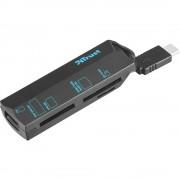 Vanjski čitač memorijskih kartica USB-C™ Trust USB-C Cardreader Crna