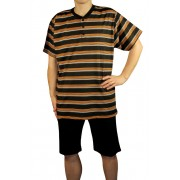 Cedric pánské pyžamo - 3/4 kalhoty M černá