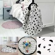 Rrimin Kids Children Infant Baby Play Mat Large Storage Bags